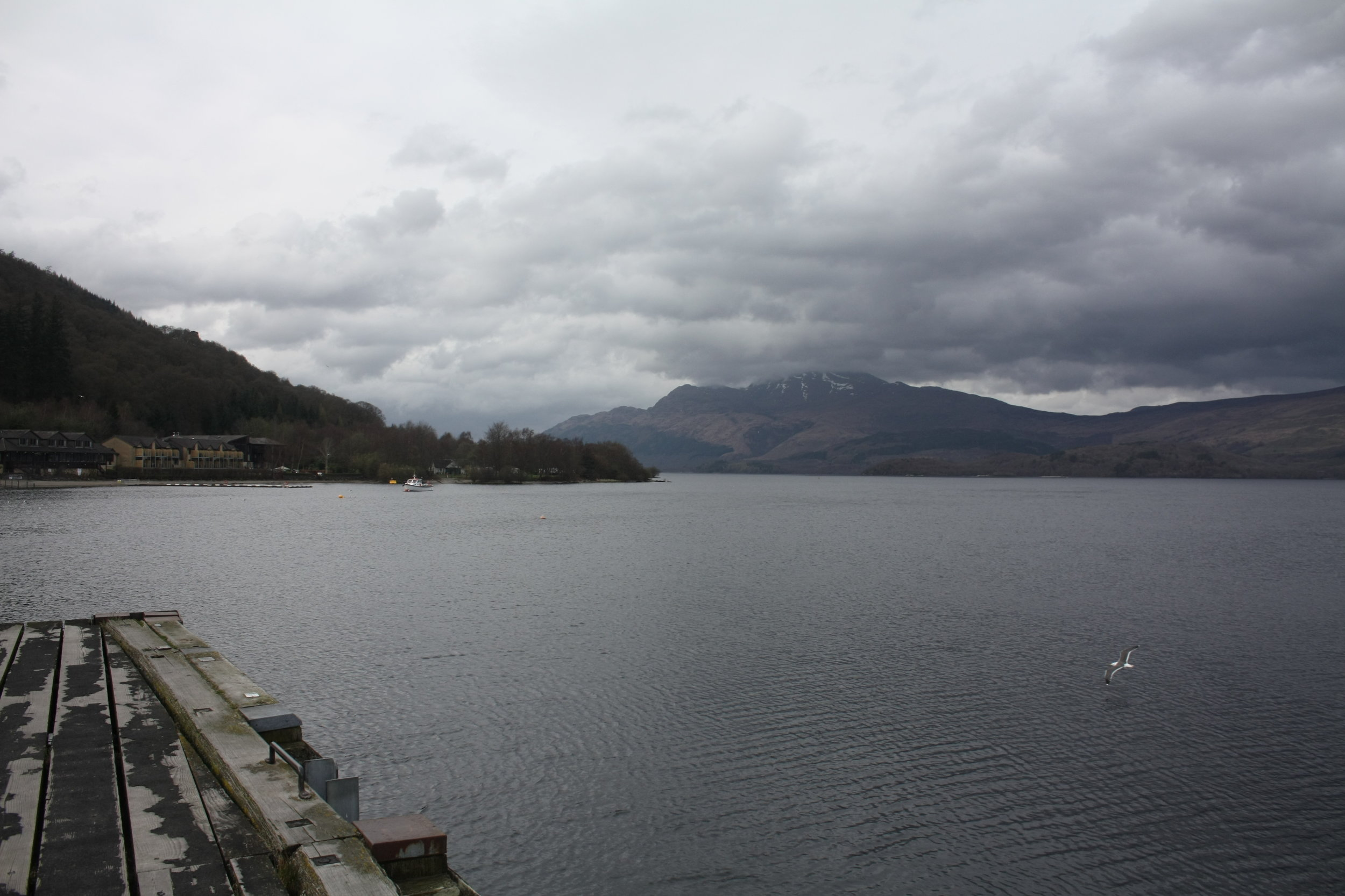 On a good day, you can have spectacular views of Ben Lomond from the shores of Luss