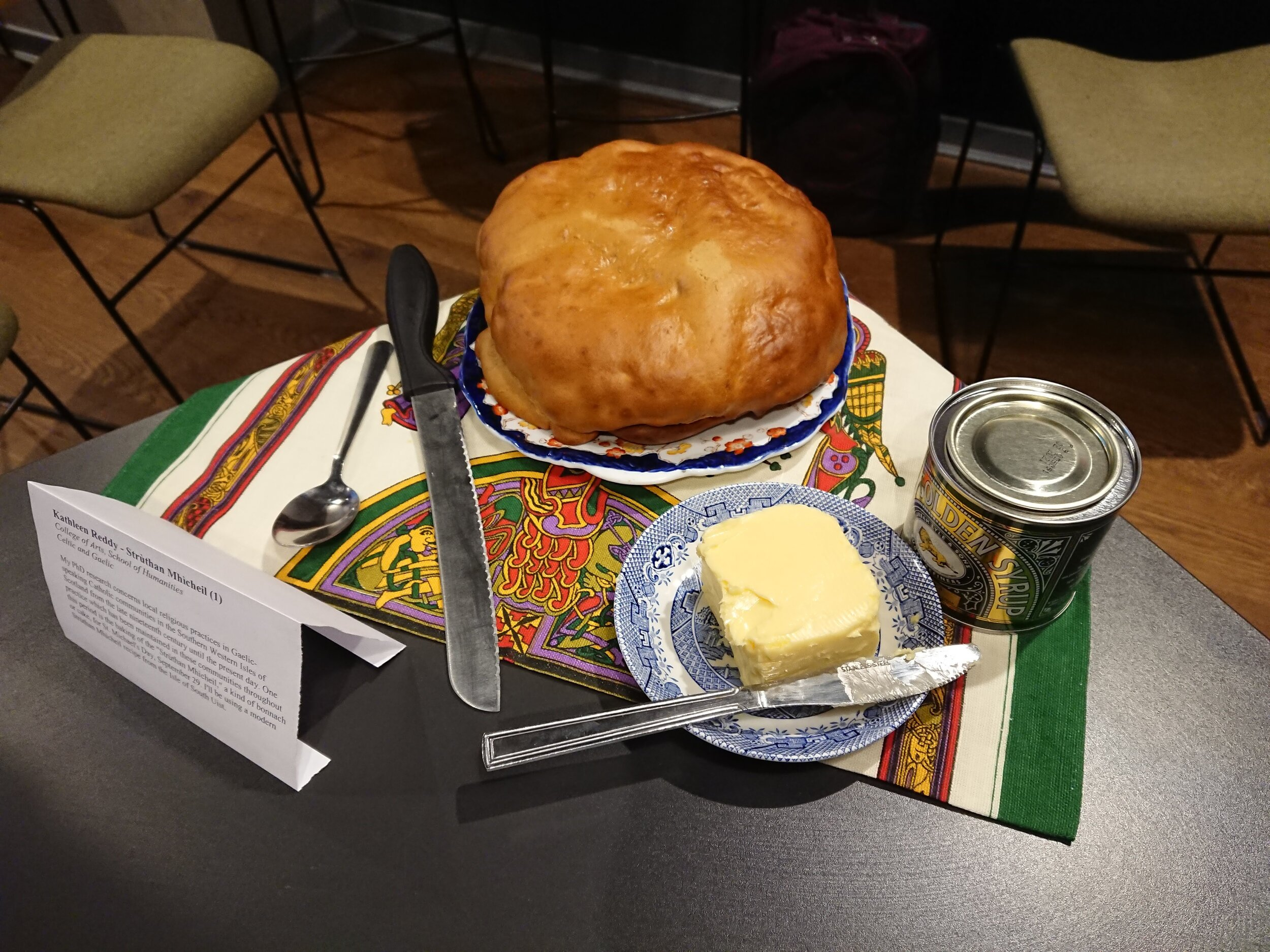 Strùthan Mhìcheil with butter and syrup