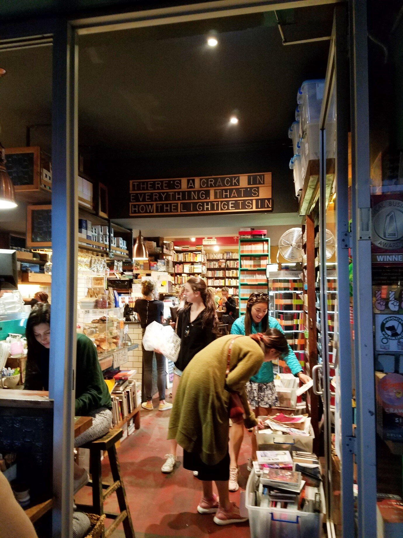 """""""Gertrude & Alice"""" in Bondi, a café and bookshop with extremely comfy red armchairs."""