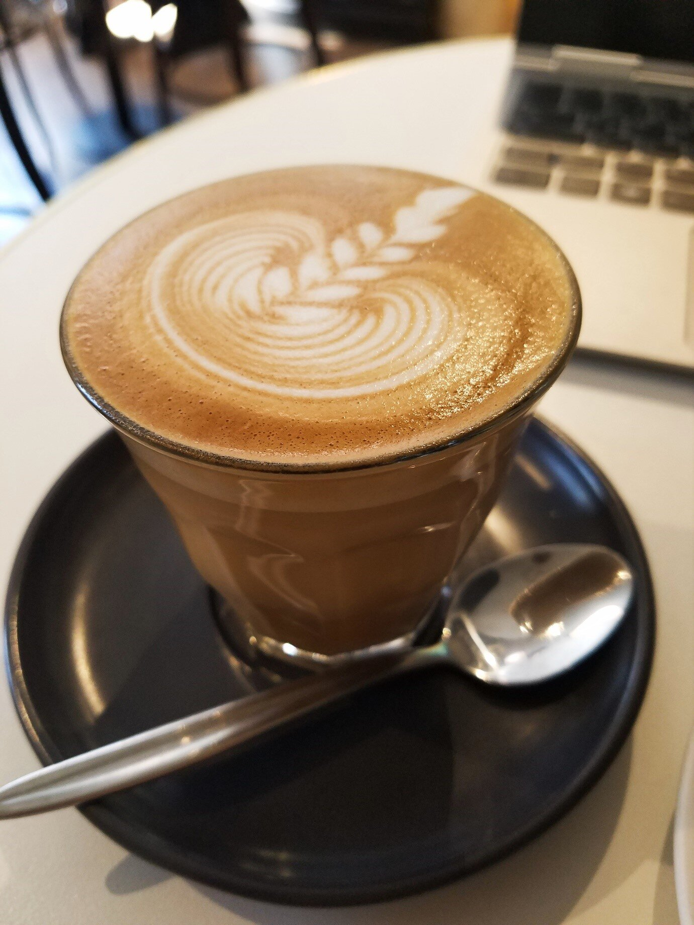 The best flat white in all of Sydney at Campos Coffee, Newtown.