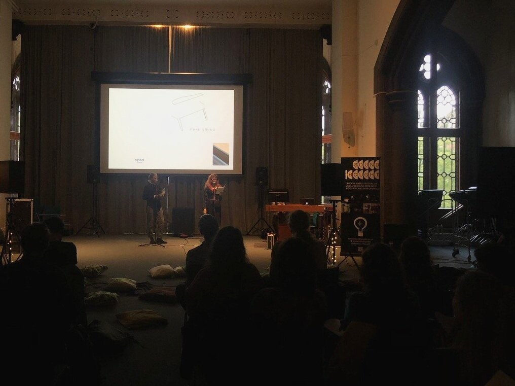 Maria Sledmere and Max Parnell performing  Pure Sound: Traversing the Ambient Vernacular