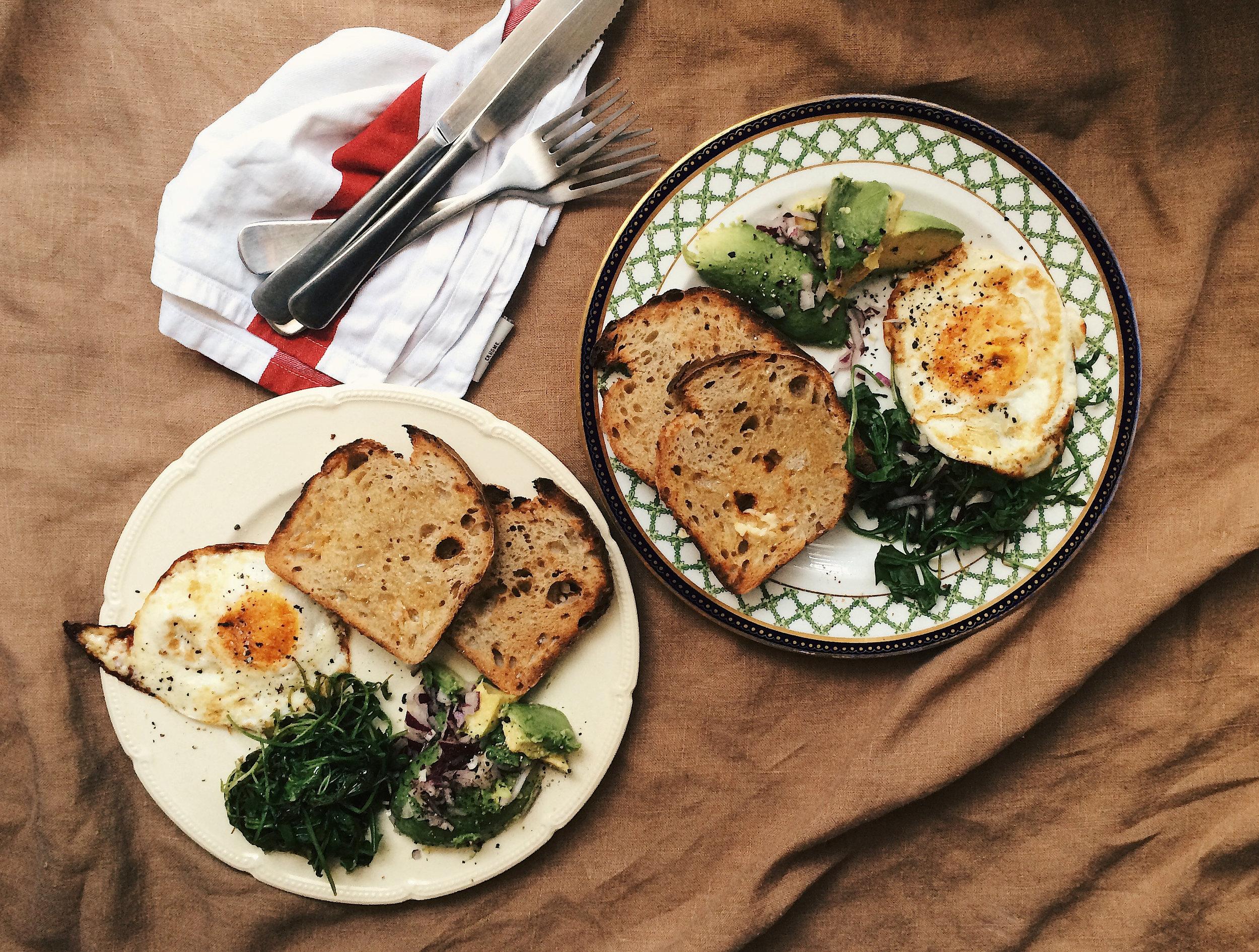 toast, eggs