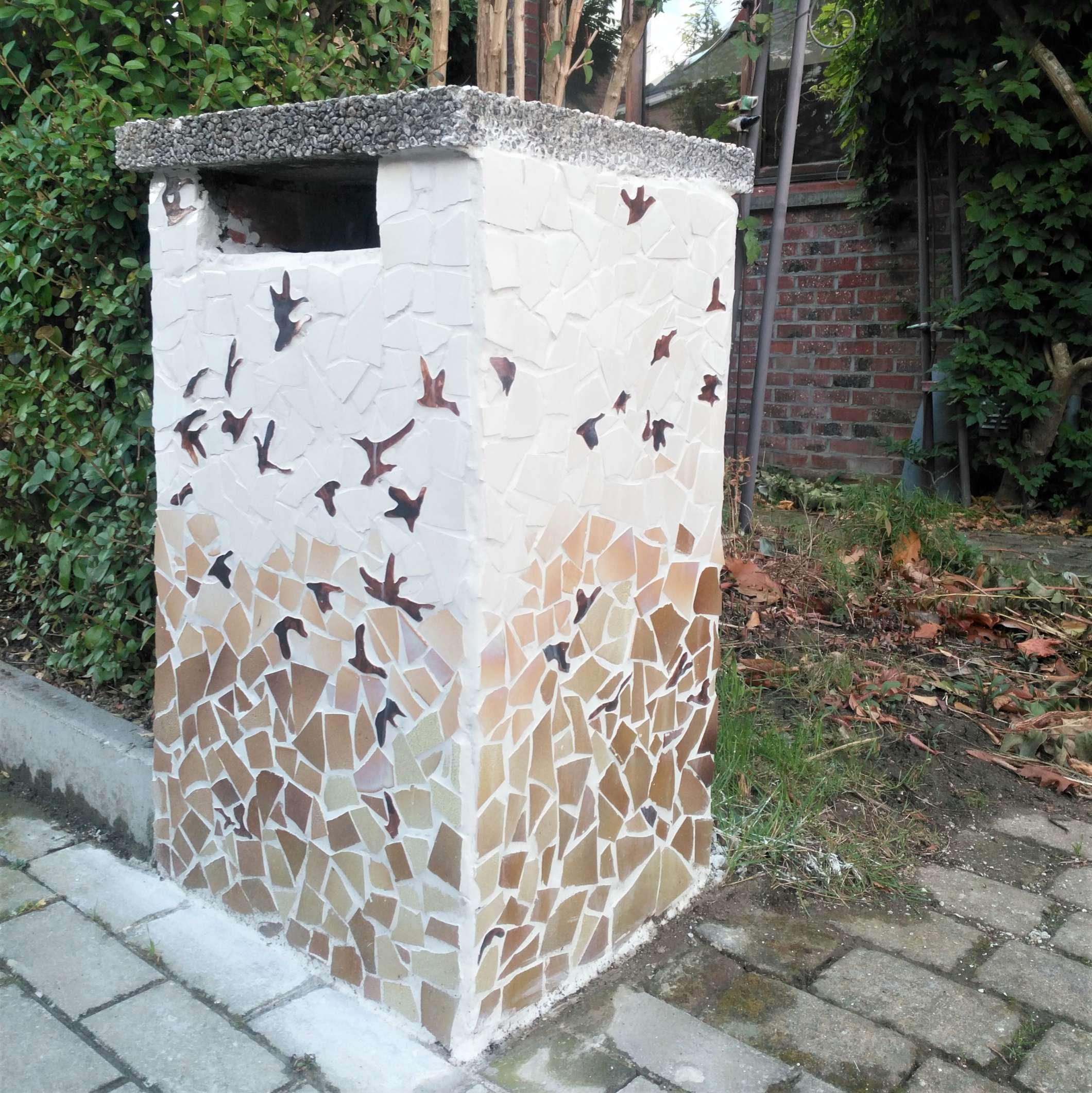 brievenbusmozaïek Zegelaan 11 Leuven