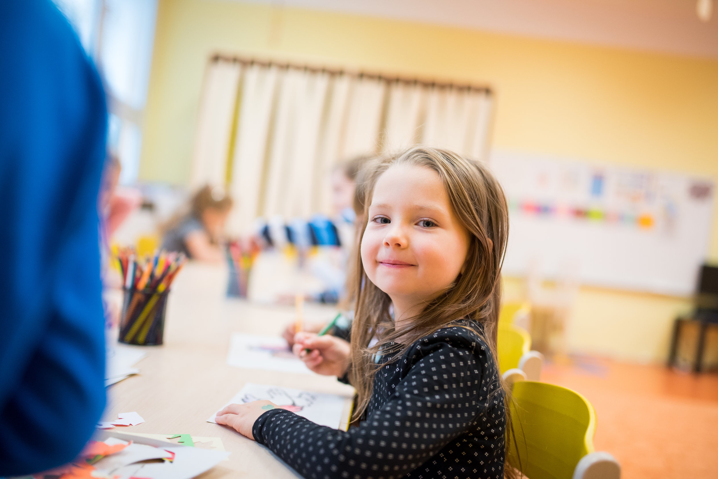 Development of mathematical, - language learning and science: through use of special teaching aids and other activities in our kindergarten classes, we can discover and develop the individual talents of our children in various areas.