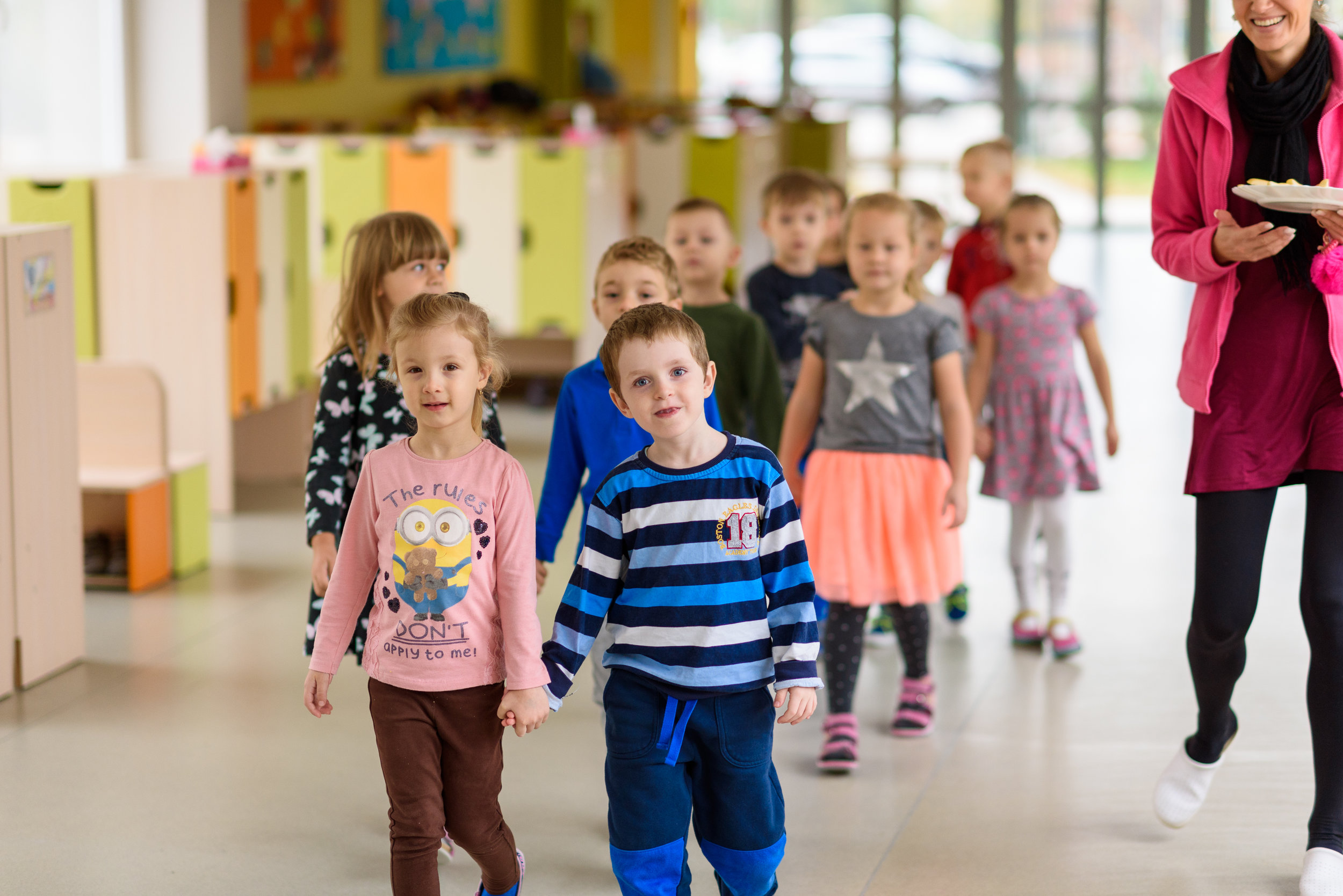 16 children per class - We place children into classrooms so as to allow individual work, peace at work and of course child safety in any and all activities.