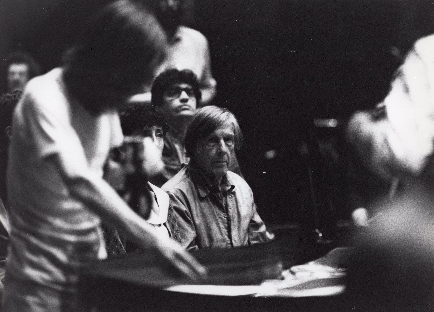 1992, Music Walk b, foto z koncertu v Perugii s Johnom Cageom, 18x24 cm