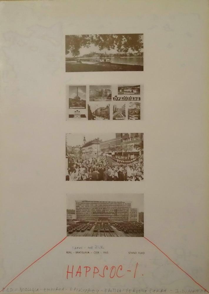 1967, HAPPSOC I, Real, kresba na serigrafii, 70x50 cm