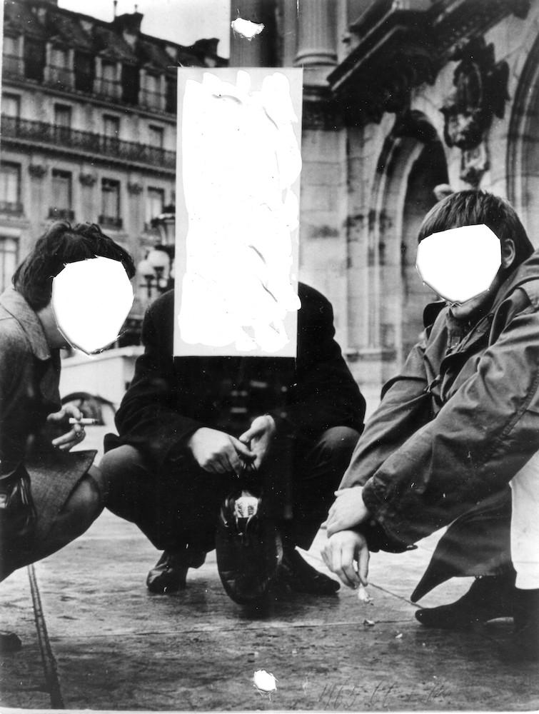 1976-79, Transcendency II, kombinovaná technika na fotografii, 18,5x24 cm