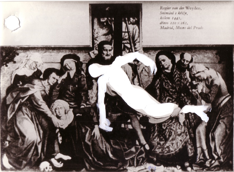 1978, Transcendention, kombinovaná technika na fotografii, 18x23 cm