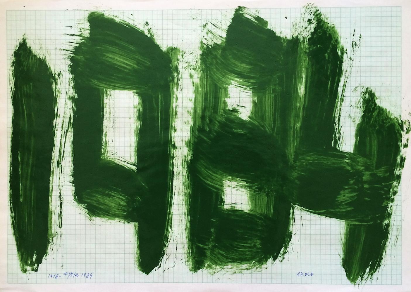 1984, 1984, maľba na papieri, 29,5x42 cm