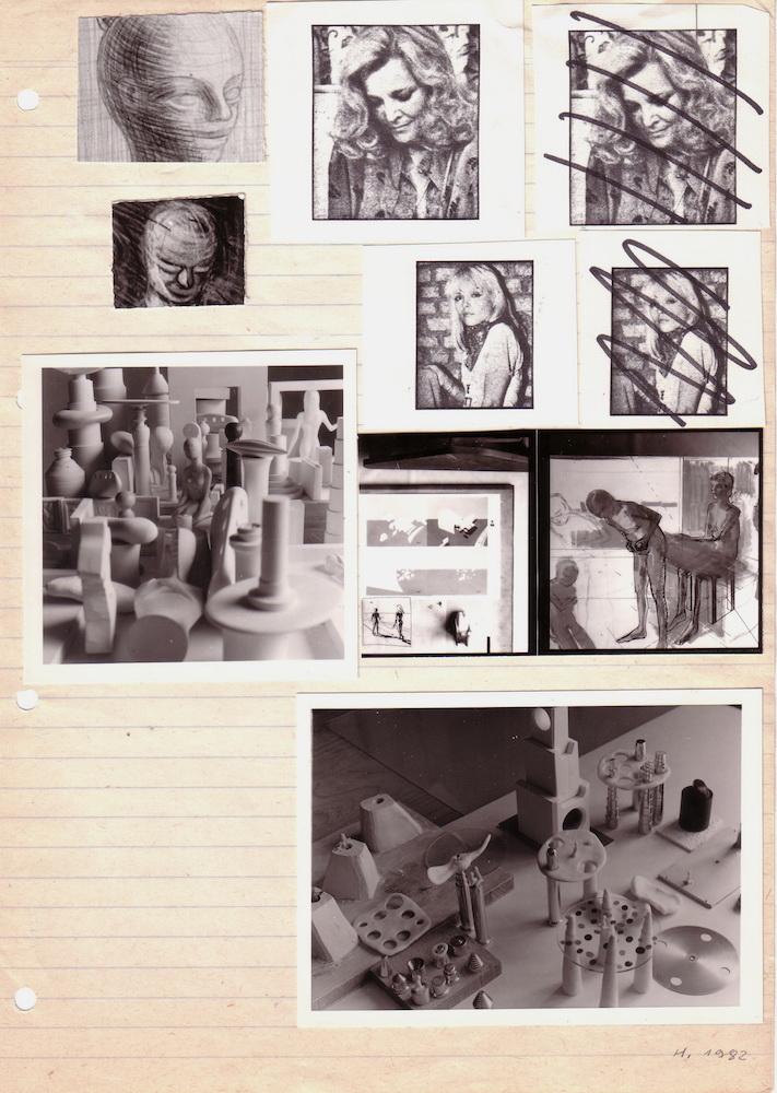 1982, bez názvu, koláž fotografií, 29,5x21 cm