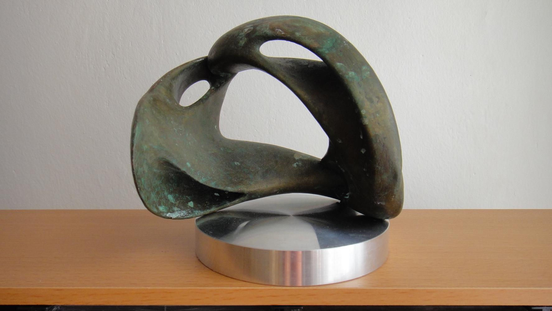 2009, Sieťka, digitálna socha, bronz, 15x15x15 cm