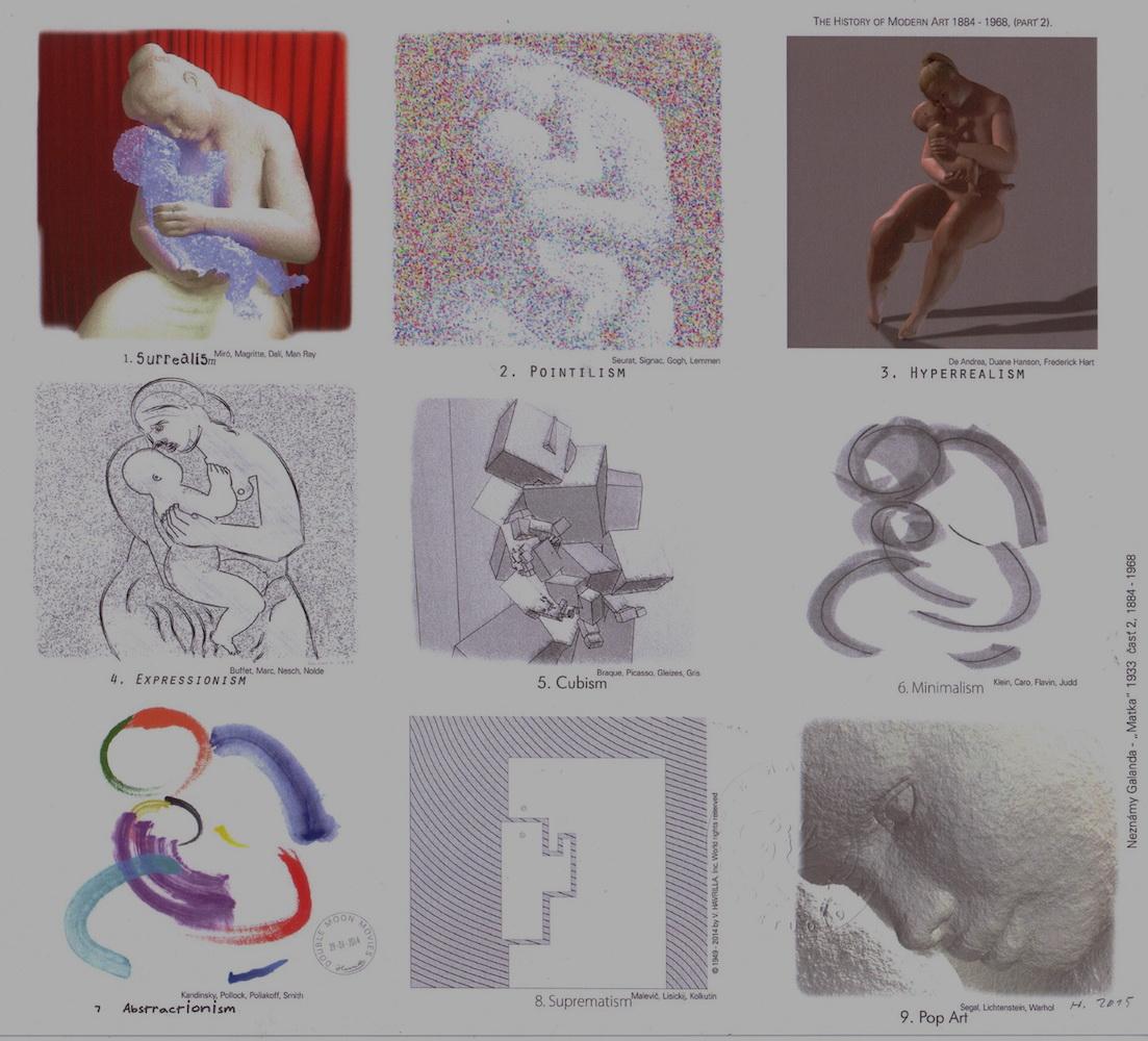2015, The History of Modern Art, počítačová tlač, 21x23,5 cm