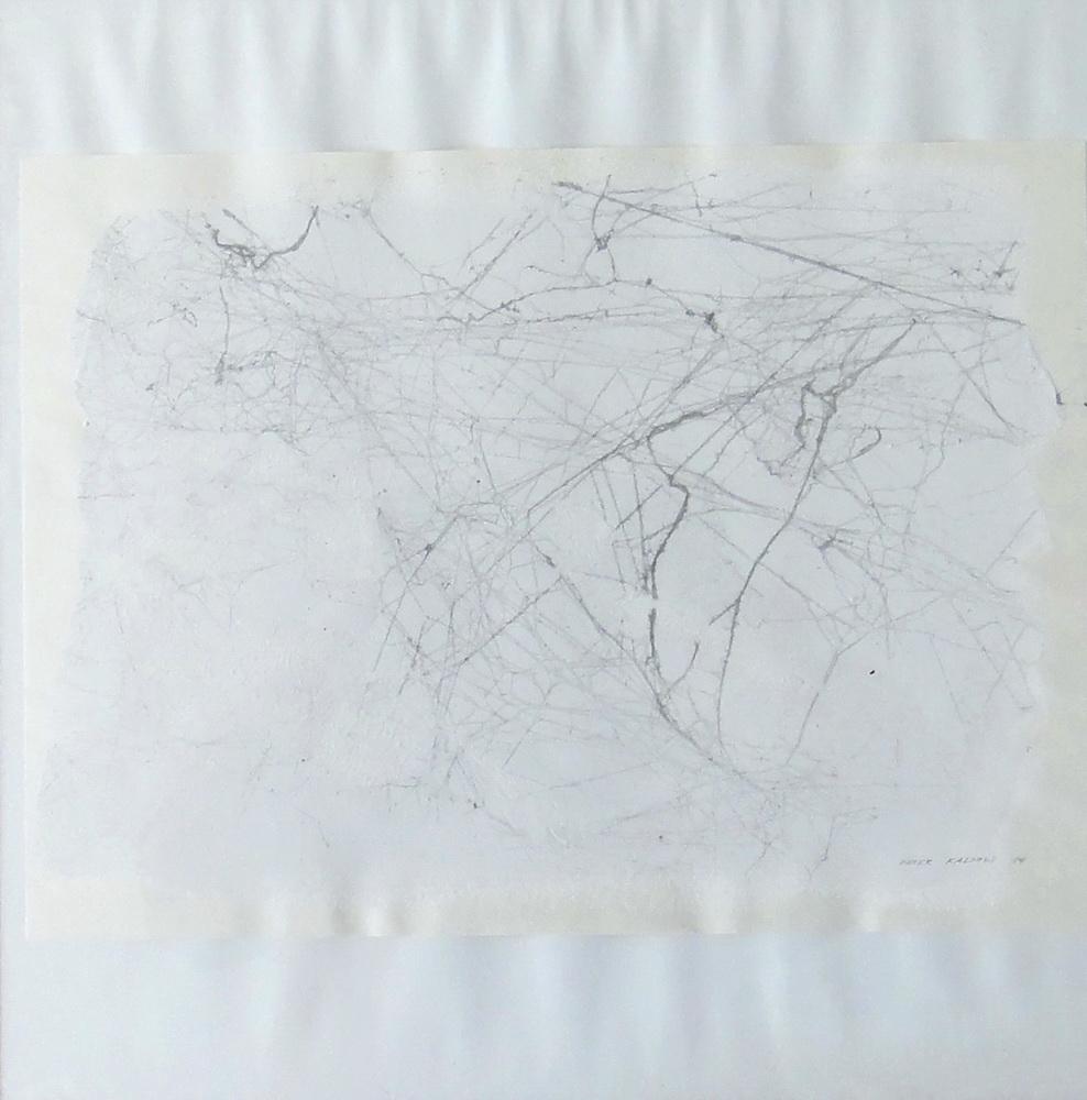 1984, Pavučiny, pavučiny na papieri, 33x45 cm