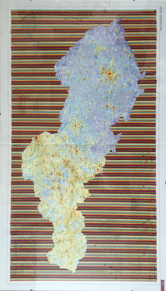 2005, z cyklu Methexis a Parusia, kresba na mape, 50x 86,5 cm