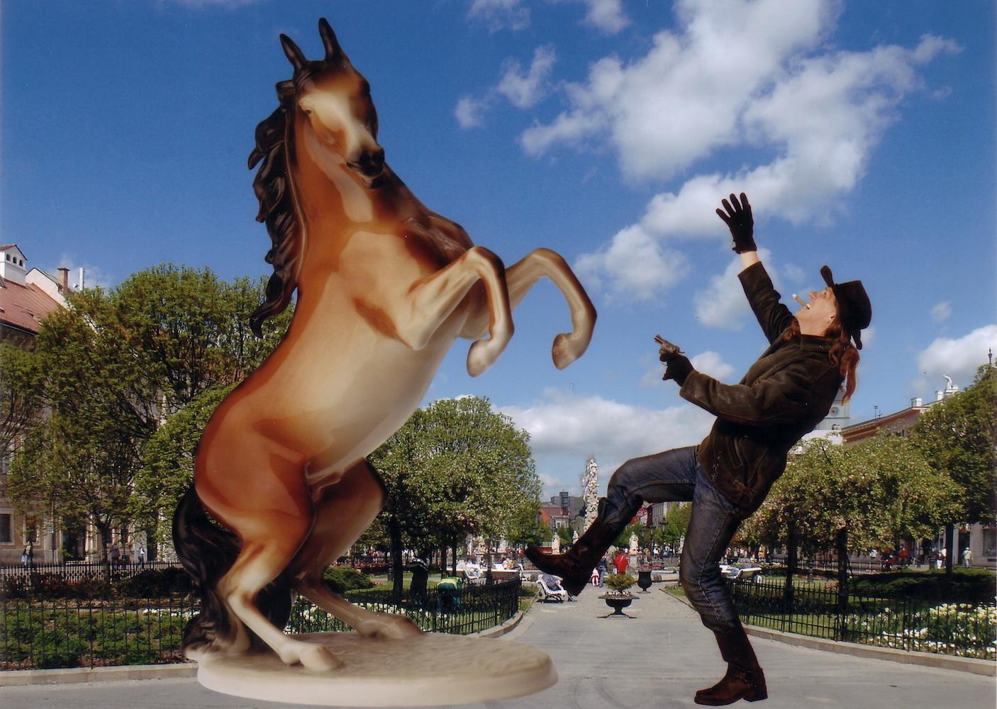 2008, Z tuctového cyklu Bukowski, fotomontáž, 12,5x18 cm