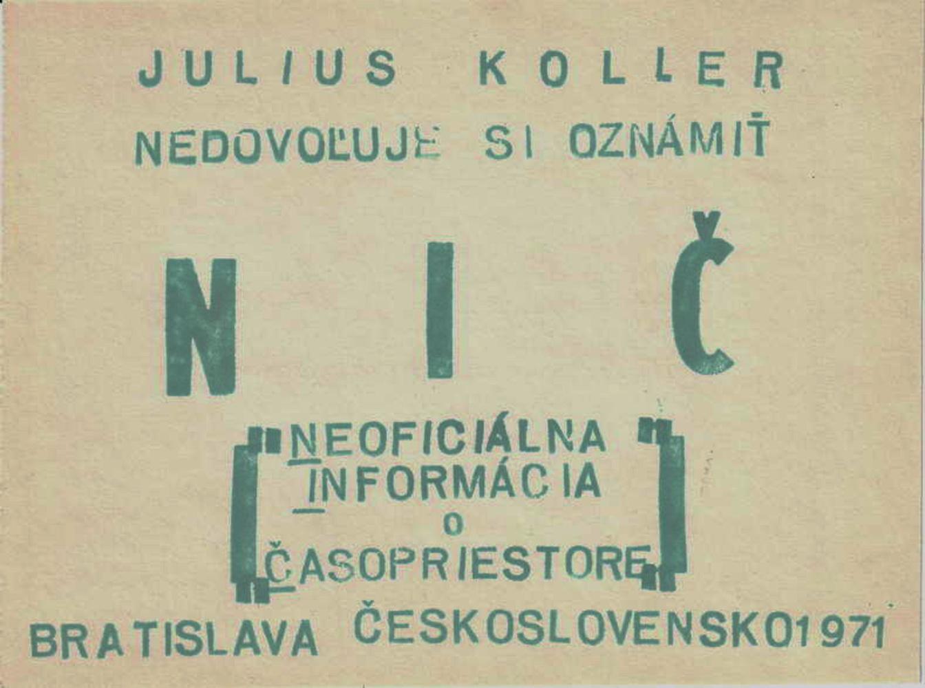 1971, NIČ, U.F.O., 16,5x12,5 cm