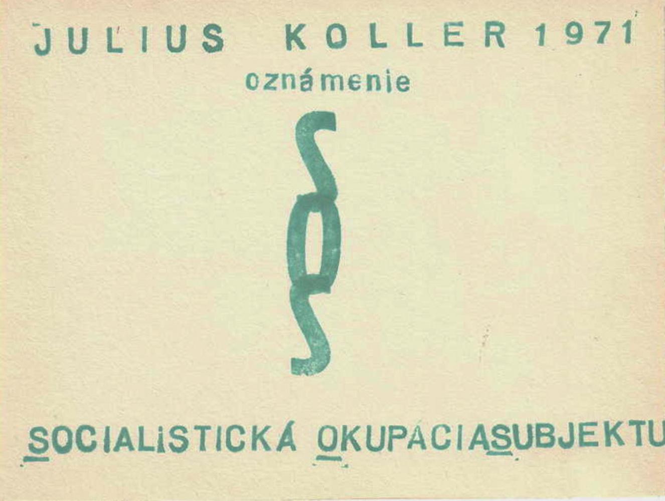 1971, SOS, U.F.O., 16,5x12,5 cm