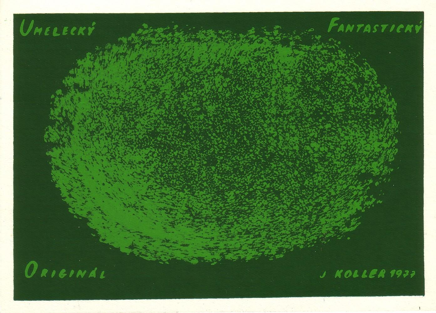 1977, Umelecký Fantastický Originál, serigrafia, 11x15 cm