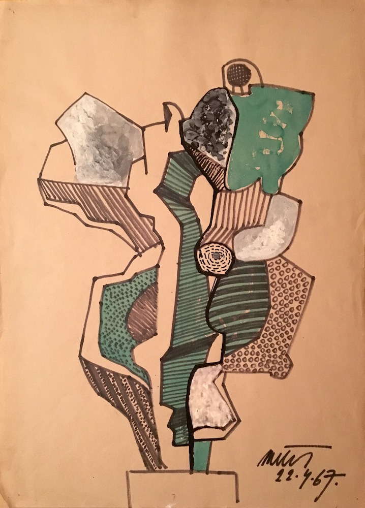 1967, bez názvu, kresba na papieri, 62x45 cm