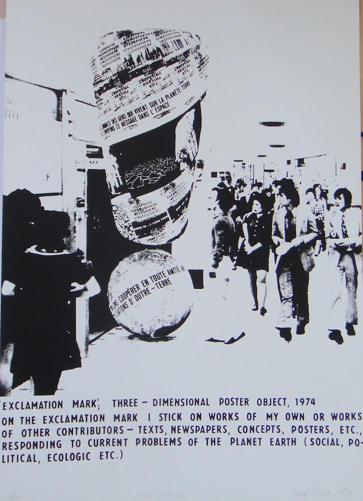 1974, Výkričník VII., serigrafia, číslo 19/70, 70x50 cm