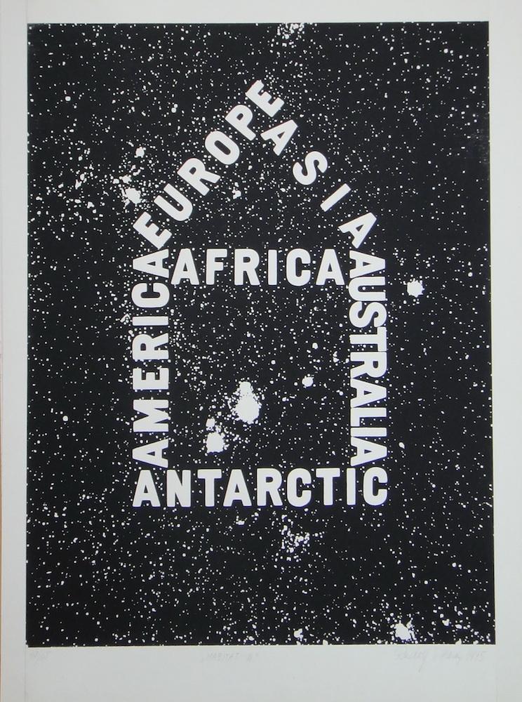 1975, Habitat III., serigrafia, číslo 19/65, 44x70 cm