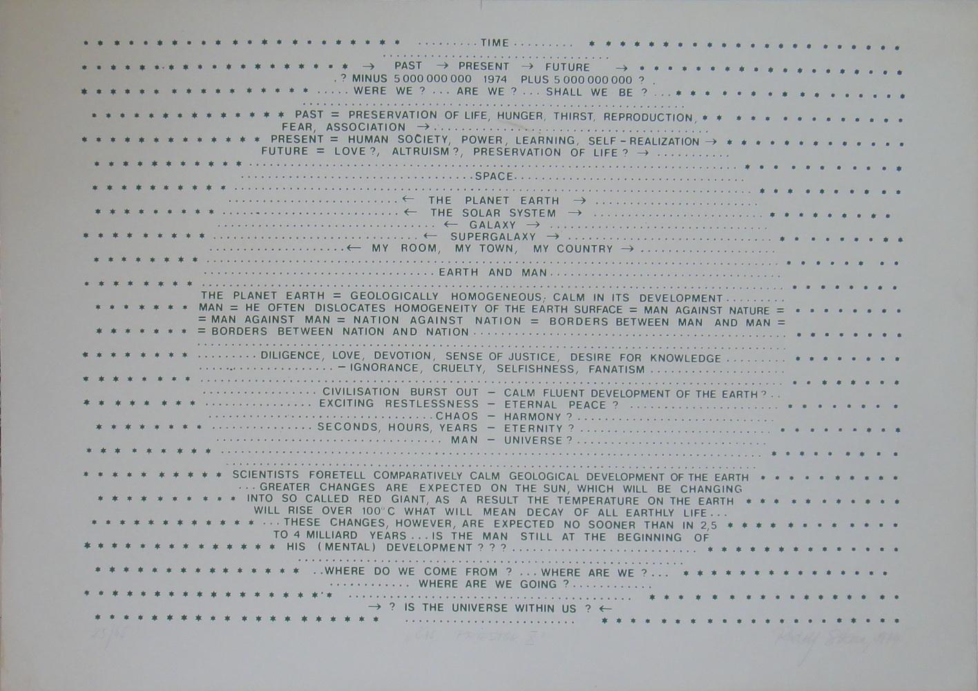 1979, Čas... priestor X., serigrafia, číslo 25/65, 70x50 cm