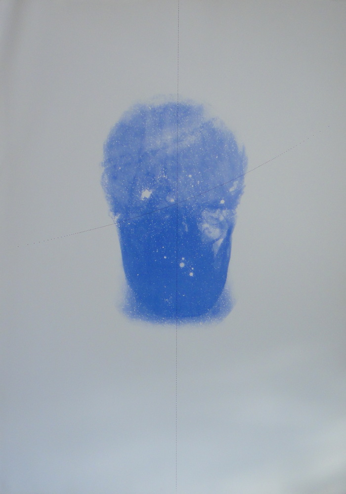1985, Autoportrét, z cyklu Antropický princíp, serigrafia, 100x70 cm