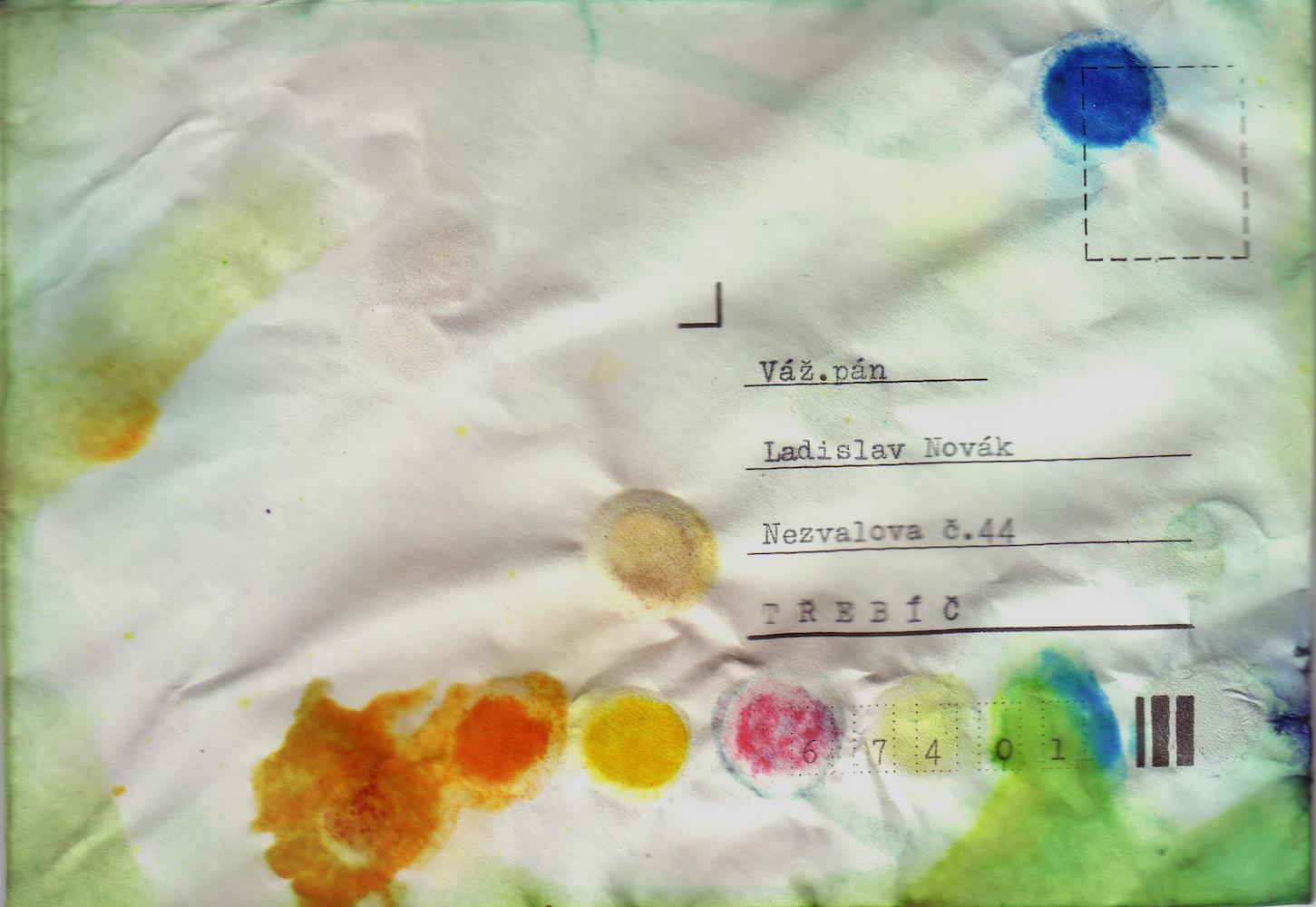 1982, list pre LN, objekt, obálka a vodové farby, 11x16 cm