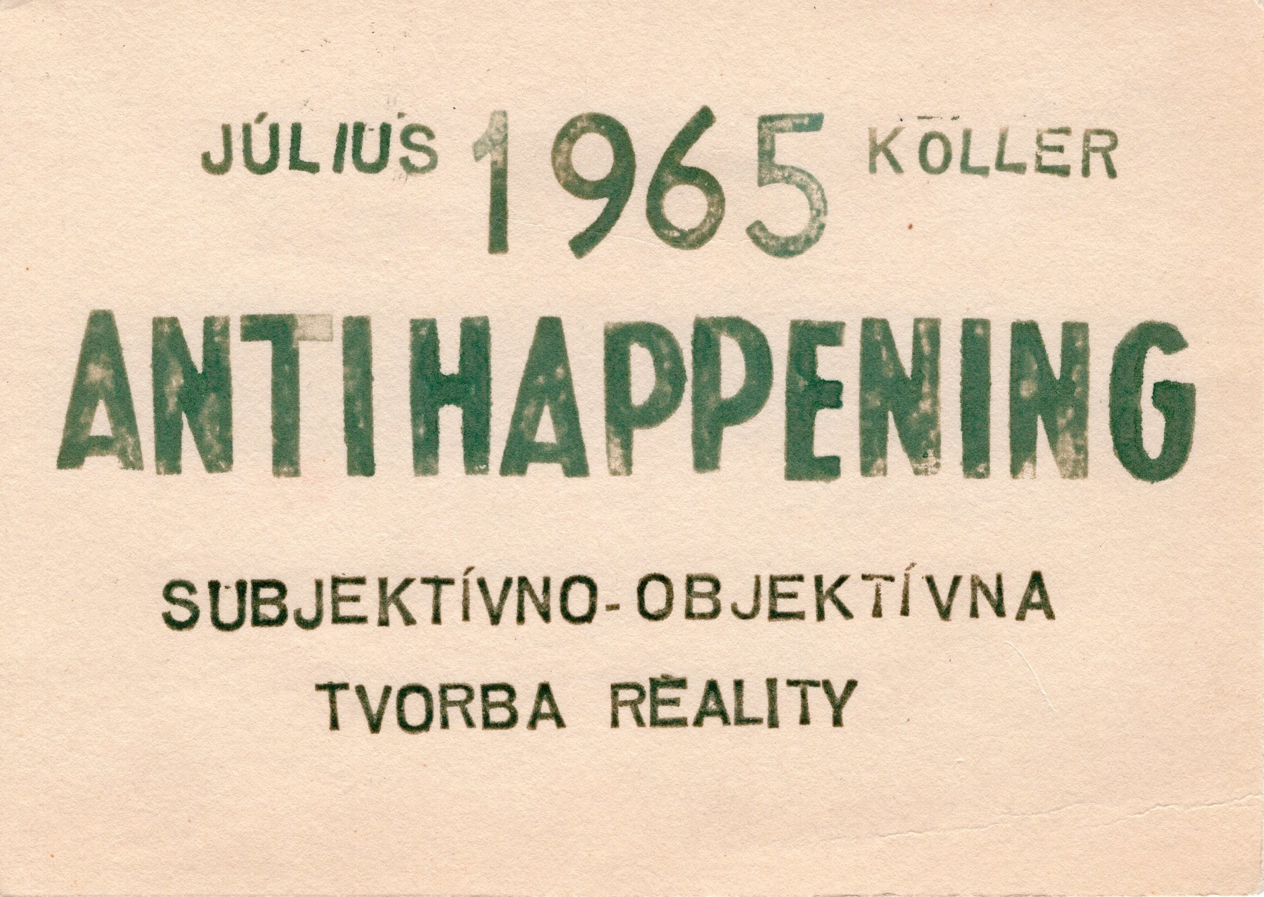 Koller Július, 1965, Antihappening, textkarta, 11x16.jpg