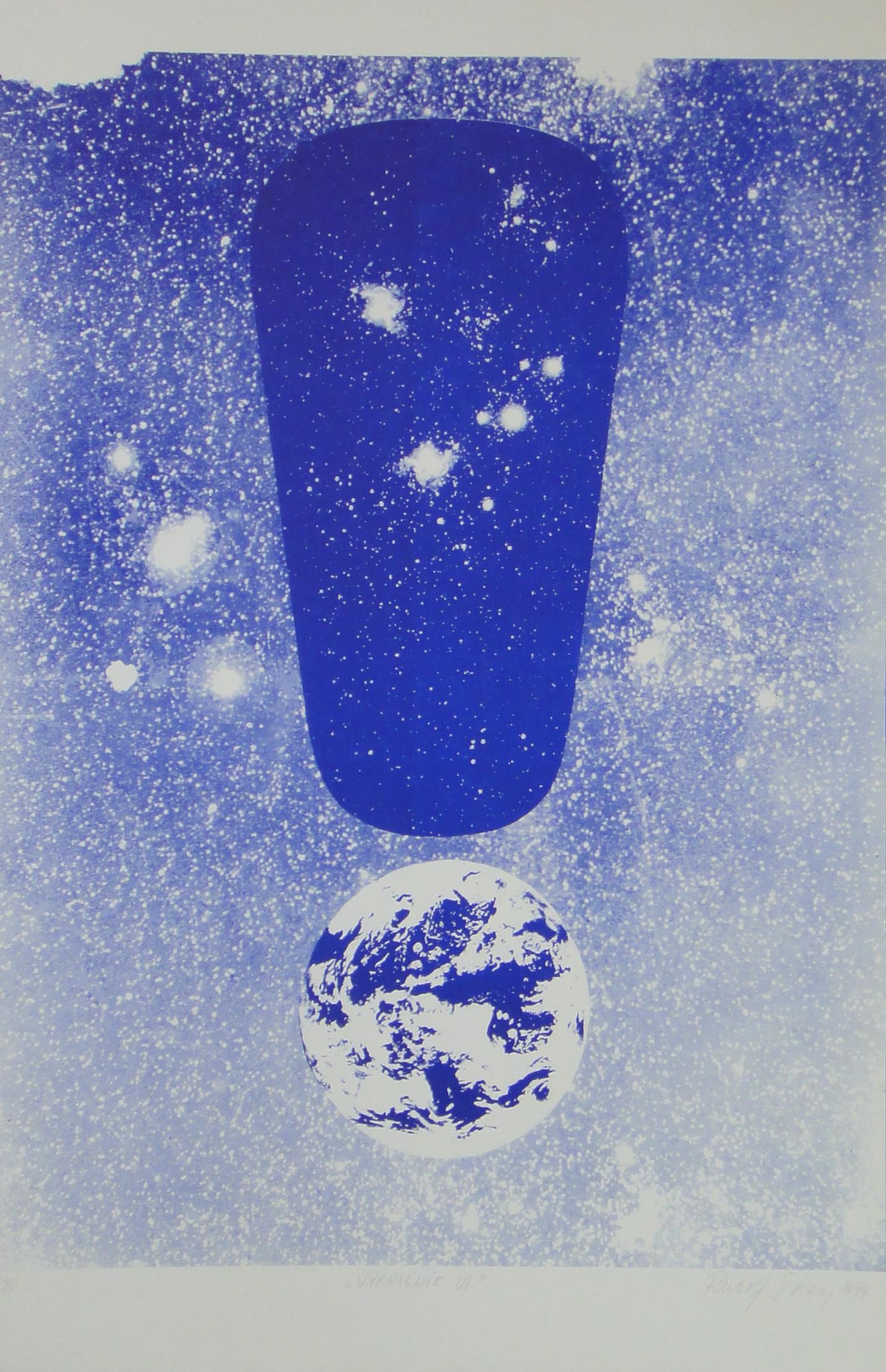 Sikora Rudolf, 1974, Výkričník VI., serigrafia, 41 zo 70, 44x70.jpg