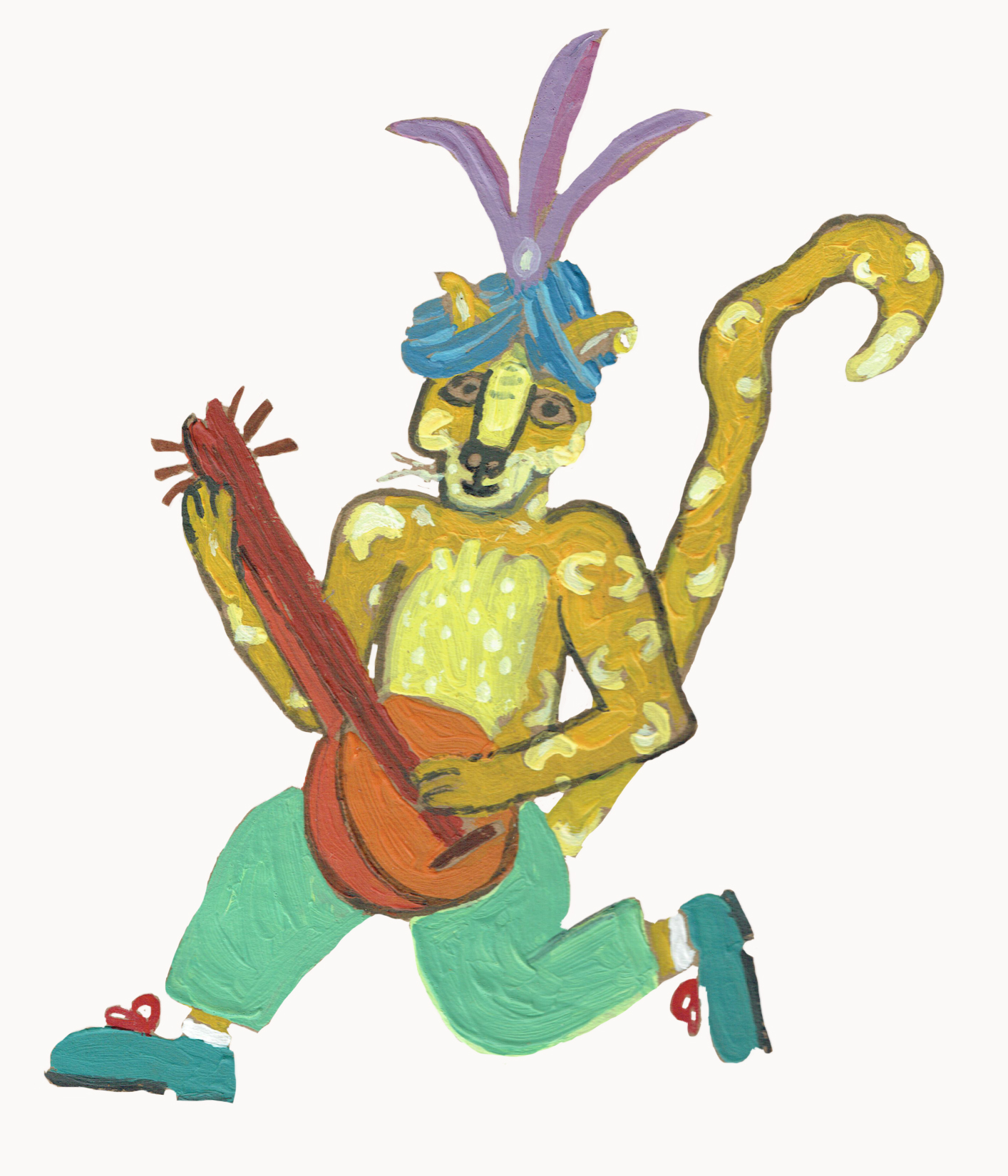A lute-playing leopard