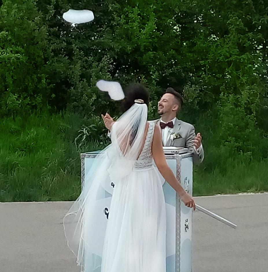 Tolle Idee als Hochzeitsüberraschung. Eventwölkchen begeistert nicht nur das Hochzeitspaar. Wir sagen Danke!