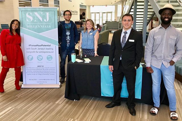 SNJ Millennials at Rowan College at Burlington County! Come learn about South Jersey's LEADING nonprofit for entrepreneurs! There's a place for YOU! Yes! #TheFutureIsHere with SNJ Millennials! 🚀 ::: www.snjmillennials.org • @snjmillennials ::: #SNJMillennials #TheFutureIsHere #PursueYourPotential #JoinToday ...