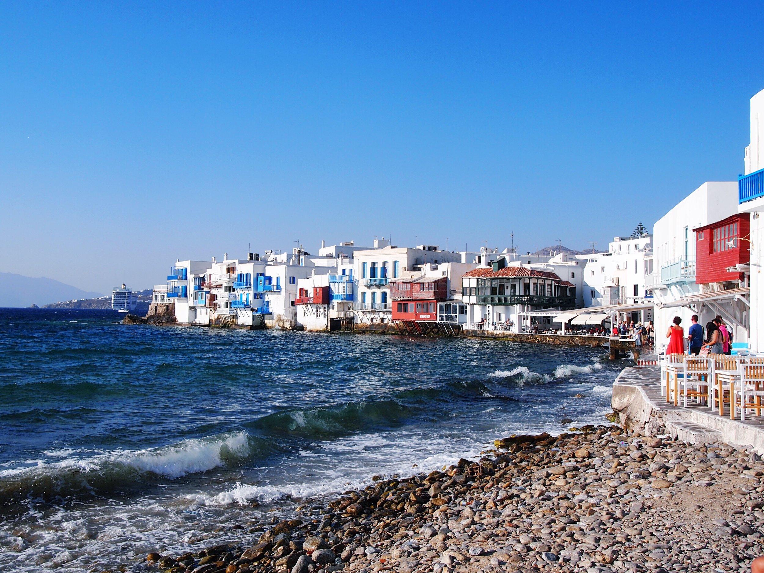 Little Venice, Mykonos. Greece. Cyclades.