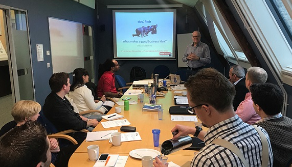 'What makes a good business idea workshop' at #Idea2Pitch October 2017, with Greville Commins, SETsquared Entrepreneur in Residence