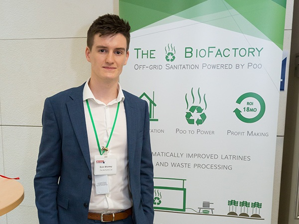 Eoin Sharkey (The BioFactory) at the Graduate Accelerator Showcase