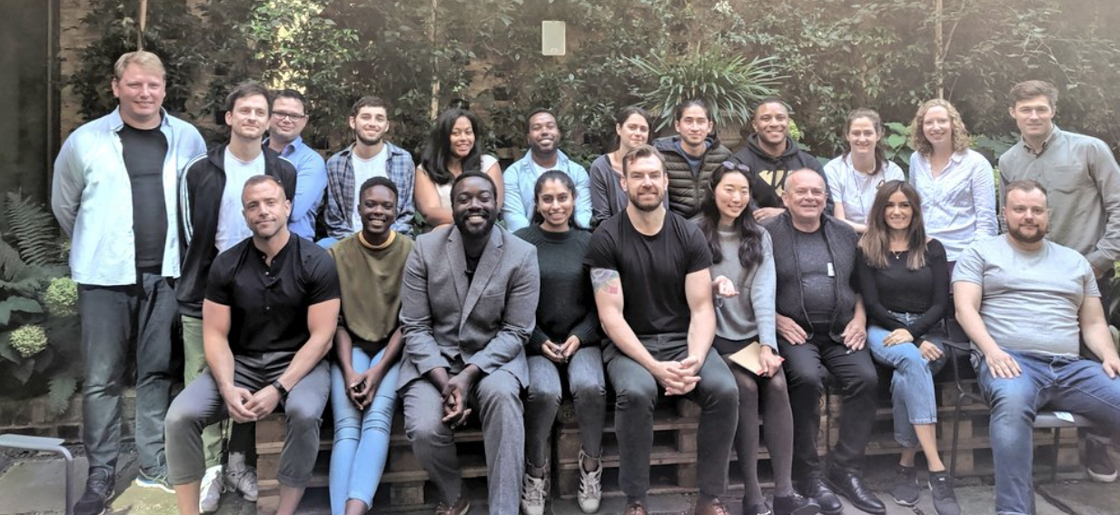 Nia Simpson, Founder of Compact Cane - first row, second left - with the rest of the Bethnal Green Ventures tech for good startups. Picture from Bethnal Green Ventures Twitter page.