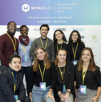 Bath Students at Elevating Ideas Conference 2018. An event that supports tech start-ups.