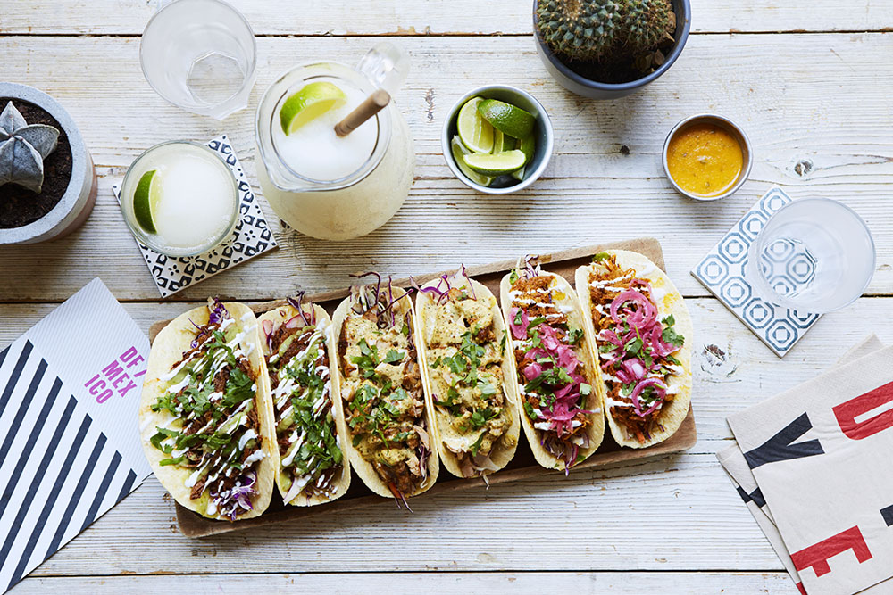 TACOS - Two soft tortillas served with crunchy slaw, salsa and your choice of filling. A Mexico City classic.