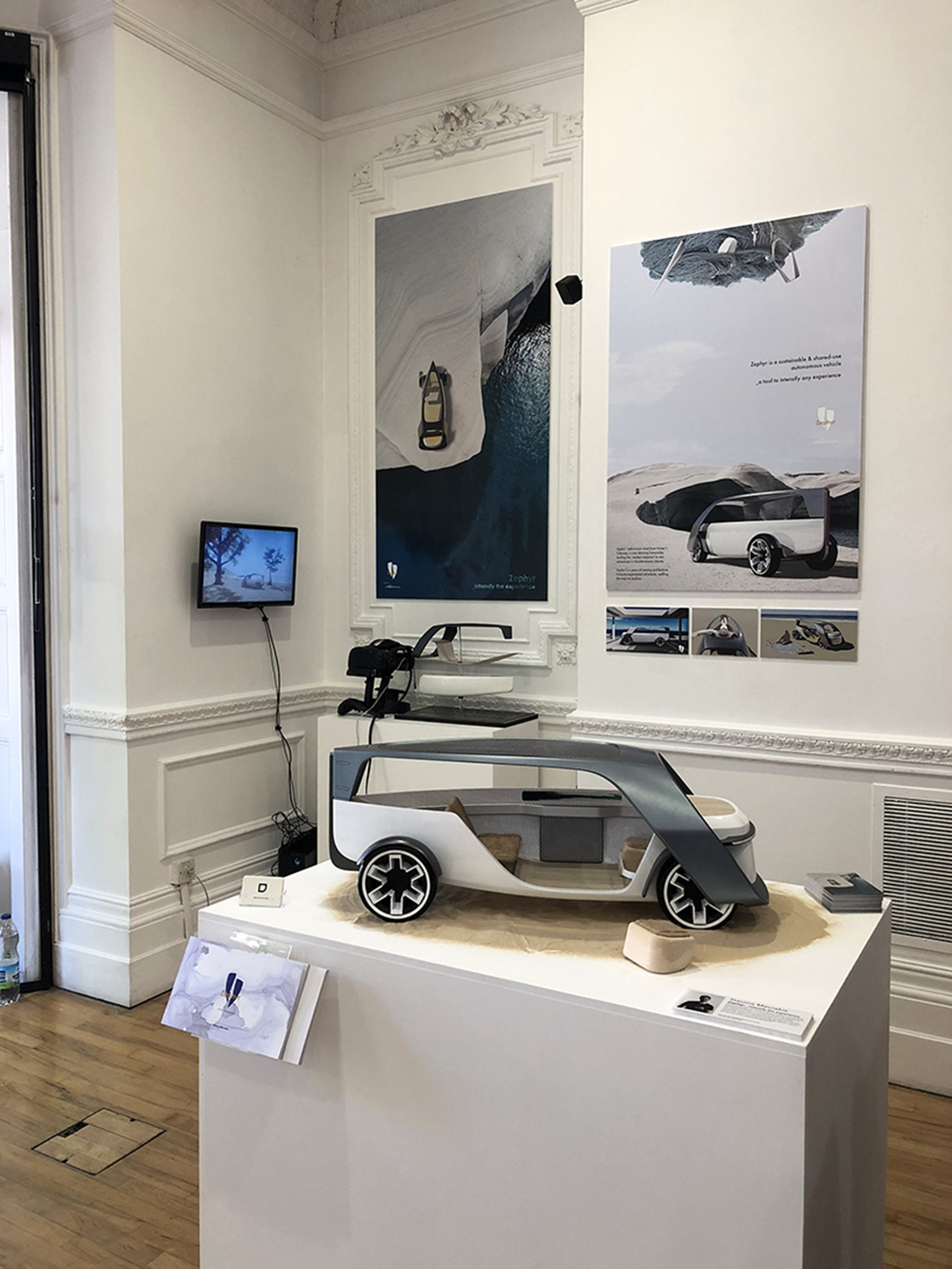 Display of the project at the Graduation Show at Royal College of Art, London 2018