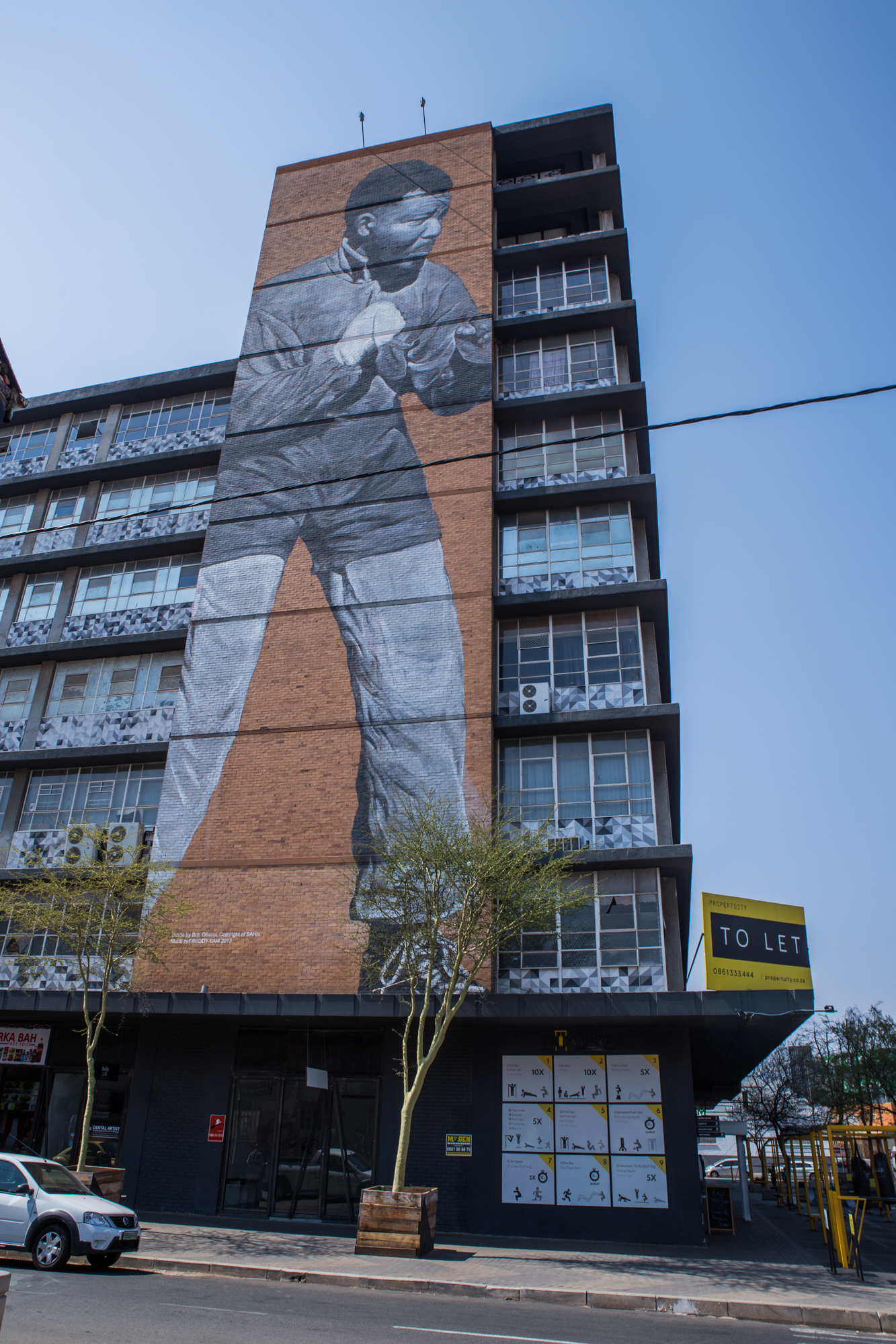 PAINTED BUILDING JHB CBD MANDELA