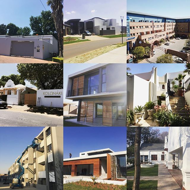 Some of our #painting #projects this year #johannesburg #housepainters #developments #restaurants #houses #complexes