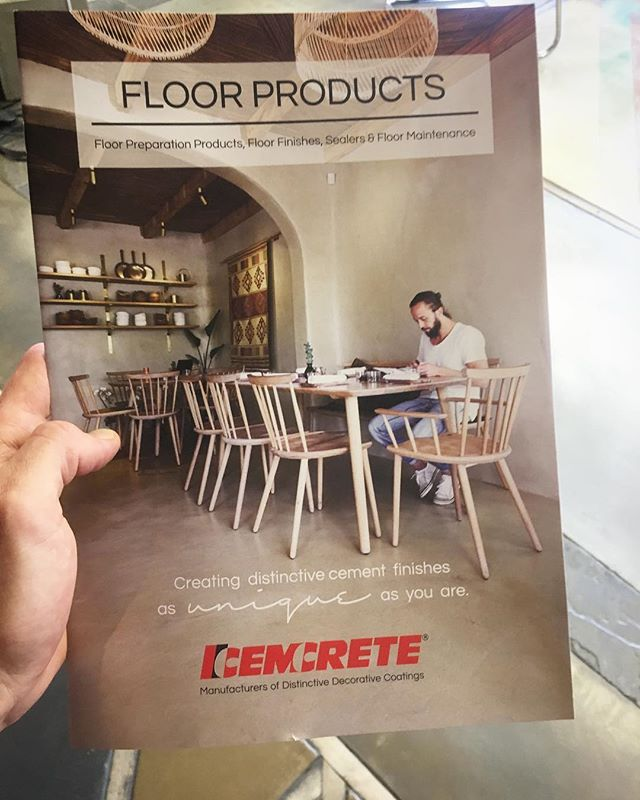 Our work for @kolonaki_on4th made the cover of @cemcrete floor brochure. #honored 🙏