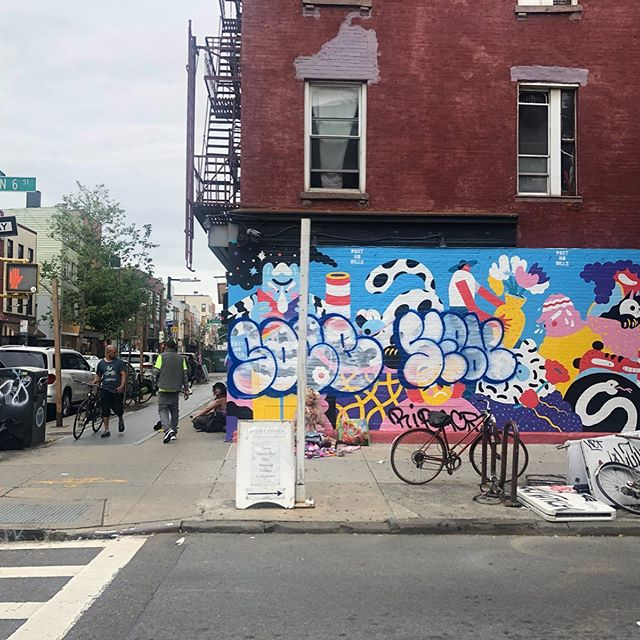 Now and then... posted this wall 20 days ago... plain white... now 2 times graffitied #whatiseeiswhatyouget #streetart #tag #ny #bk