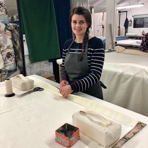 Laura (Trainee Seamstress) -  Our newest newest member of the workroom. Laura has a degree in Fashion and spent 8 years working in London as a pattern cutter. Laura has design studio experience and has developed her cutting and sewing skills by undertaking various projects at home - dress making, curtains and cushions.