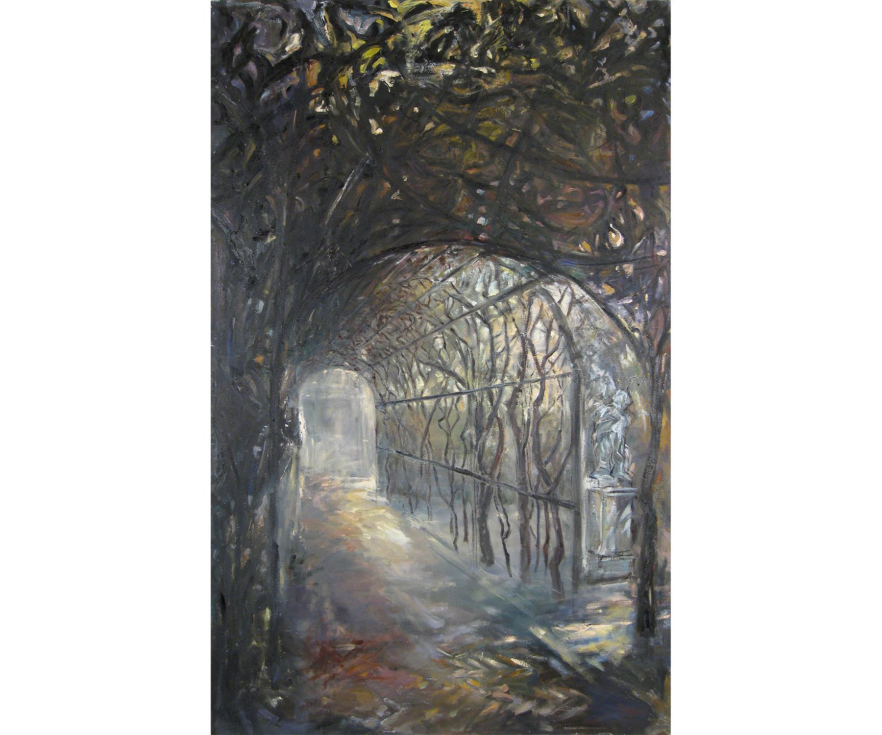 Pergola III, Oil and Acrylic on Canvas, 2015. 60 X 38