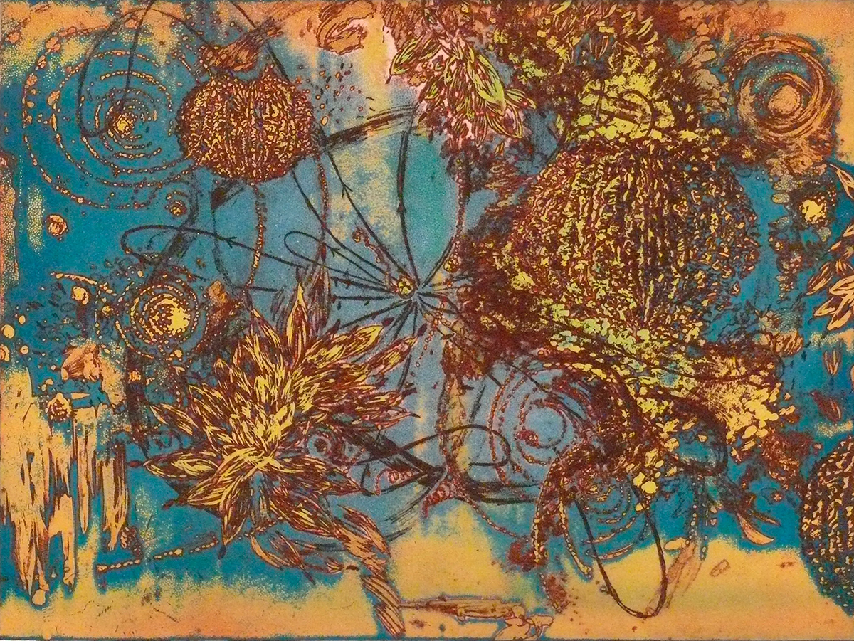 Microcosms I, 2004, Viscosity Etching, 22 x 30