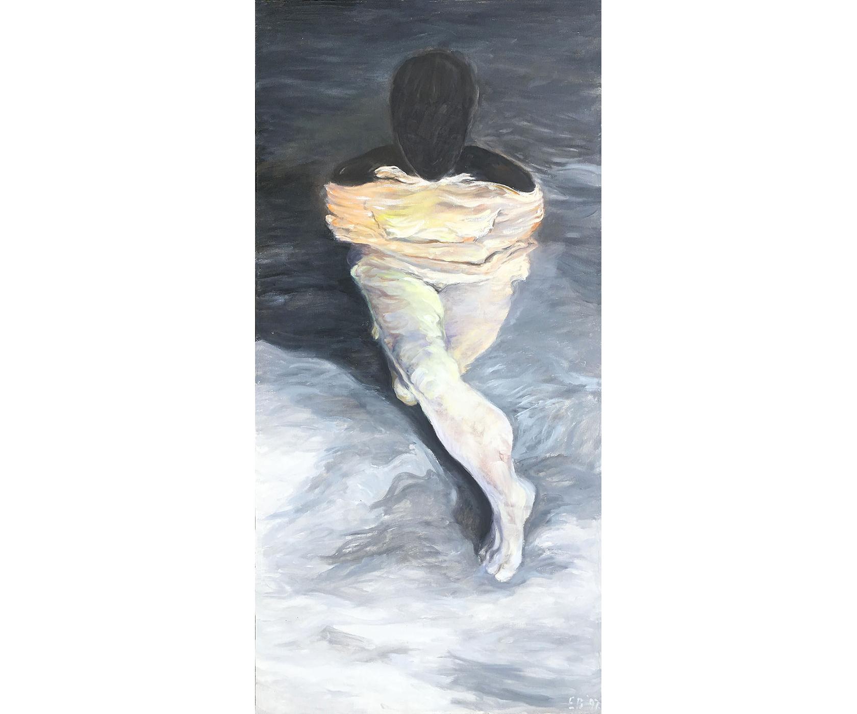 Luminous Figure, 1997, Oil on canvas. 66 x 32