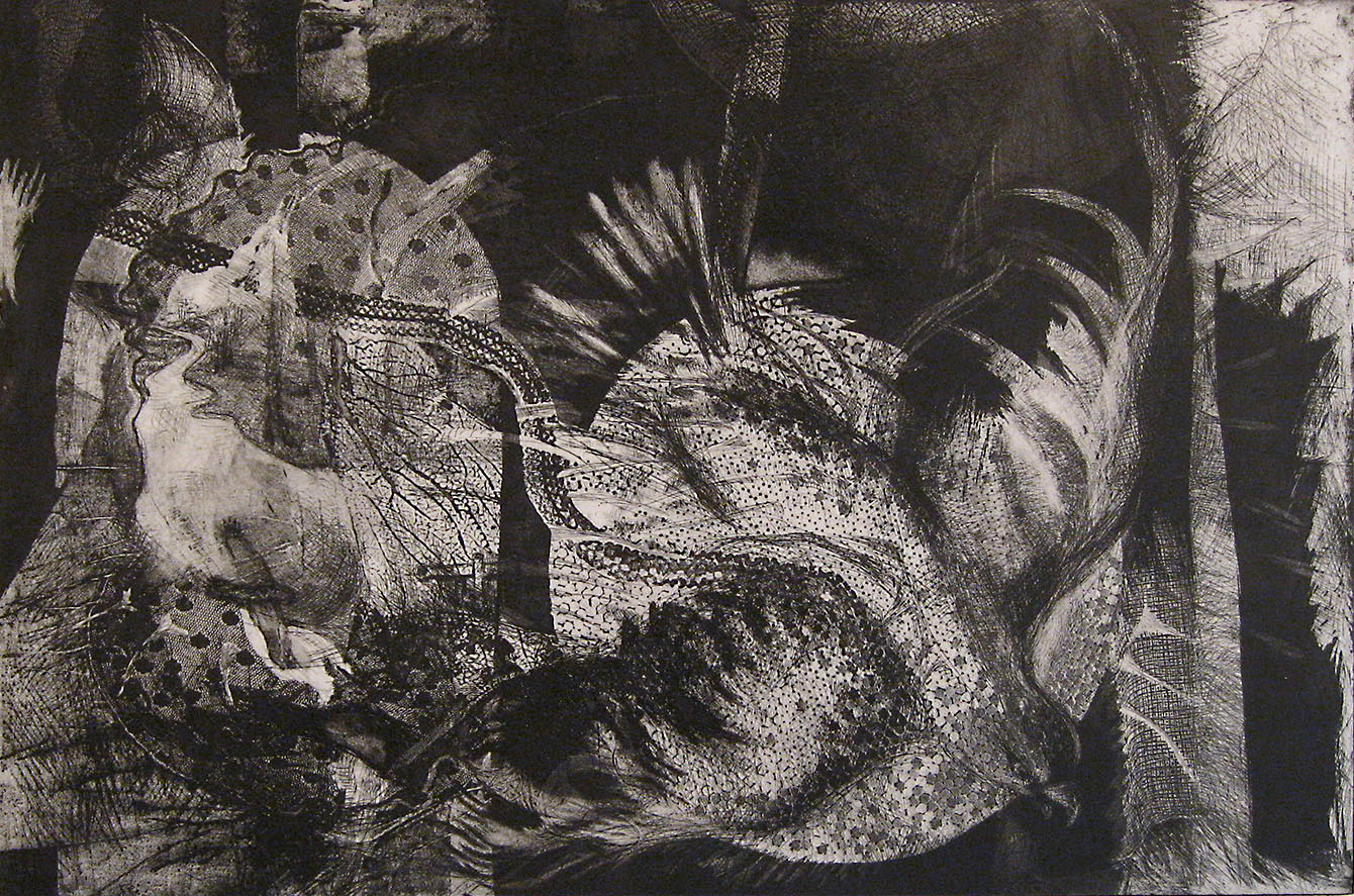Millay Series - In the Night Garden, 1998, Etching with Aquatint, 16 x 24